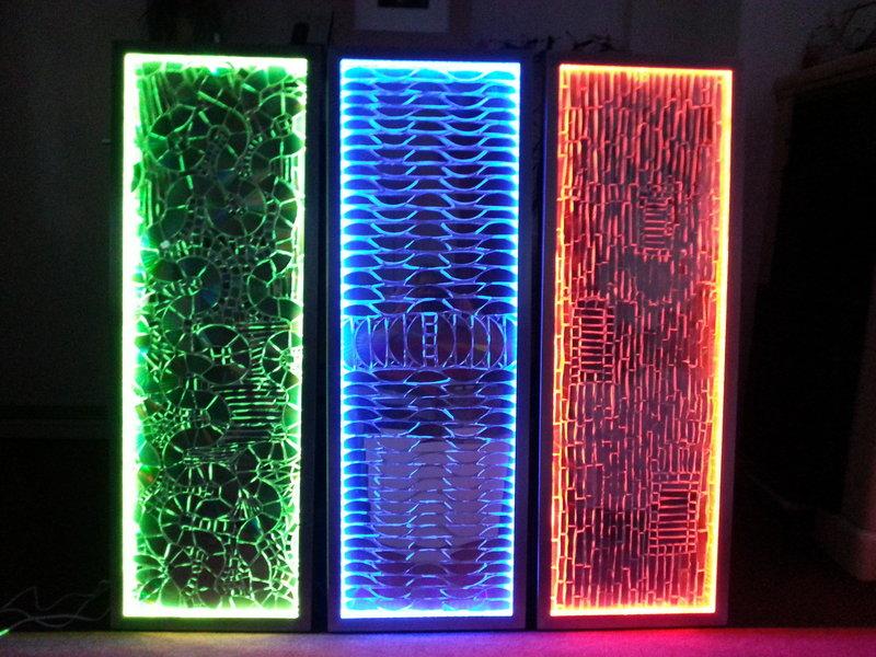 licht energie bild mit alurahmen und eingebauter led farbsteuerung 40 x 120 cm. Black Bedroom Furniture Sets. Home Design Ideas